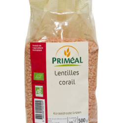 Lentilles Corail Bio PRIMEAL