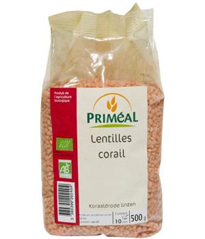 Primeal Lentilles Corail