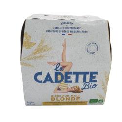 Bière Pur Malt Blonde LA CADETTE Bio