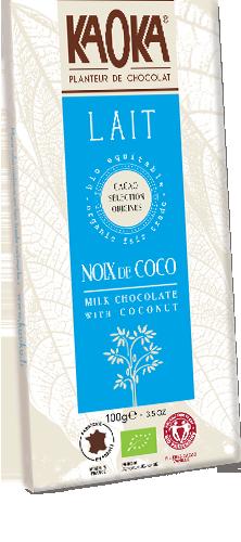 Kaoka Chocolat Lait Coco