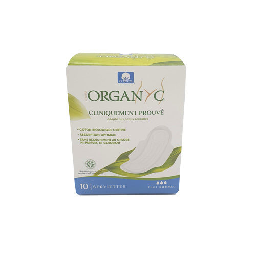 Serviettes Hygiéniques Bio Organyc