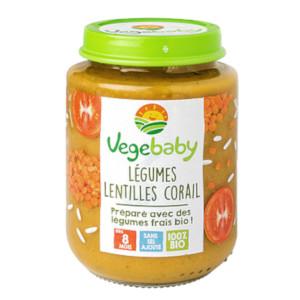 Vegebaby Lentilles Corail
